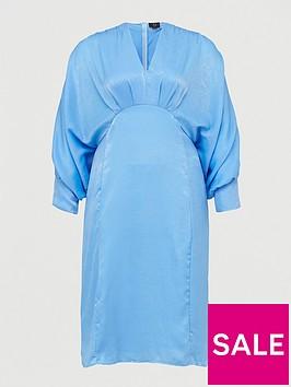 ax-paris-curve-batwing-dress-blue