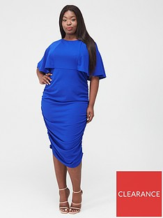 ax-paris-curve-ruched-side-midi-dress-cobalt