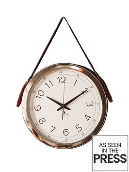 gallery-yalding-wall-clock-with-faux-hanging-strap