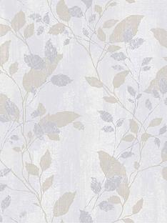 boutique-vermeil-leaf-grey-wallpaper