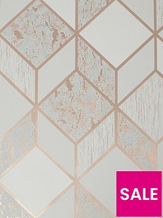 superfresco-vittorio-geo-greyrose-gold-wallpaper