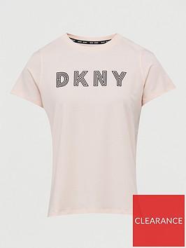 dkny-sport-track-logo-t-shirt-peach