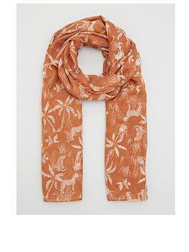 v-by-very-safari-print-scarf-rust