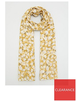 v-by-very-floral-print-scarf-yellow