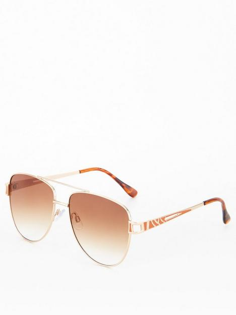 v-by-very-metal-frame-sunglasses-gold