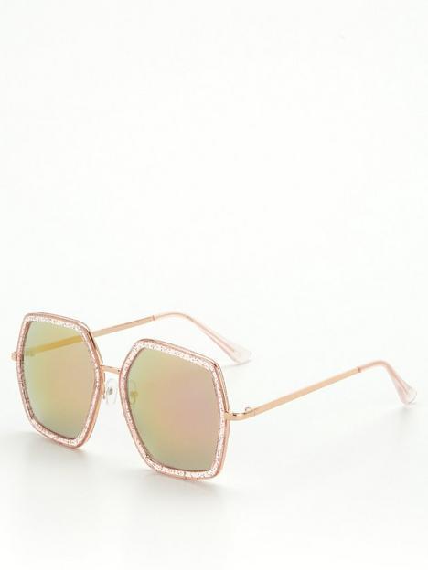 v-by-very-hexagon-frame-sunglasses-rose-goldnbsp