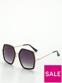 v-by-very-hexagon-frame-sunglasses-blacknbsp
