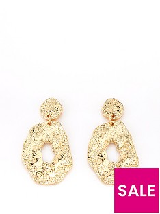 v-by-very-beaten-statement-earring-goldnbsp