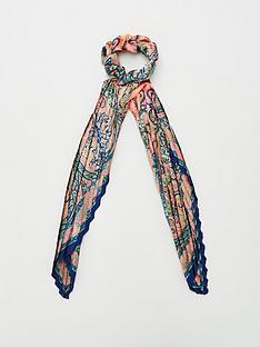 v-by-very-paisley-print-plisse-hair-scrunchie-scarf-multi