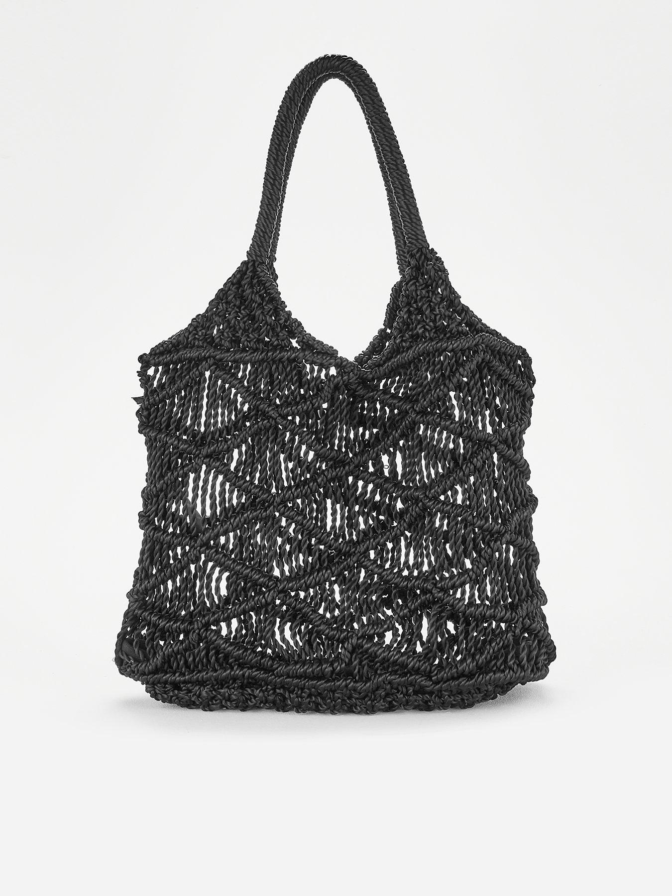 Black and White Half Pattern Weekender Bag