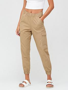 v-by-very-cargo-pocket-jogger-trouser-camel