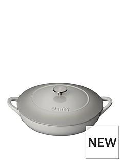 denby-denby-natural-canvas-30cm-shallow-cast-iron-casserole-dish