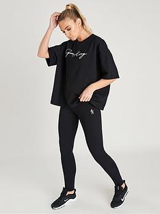 gym-king-script-logo-leggings-blacknbsp