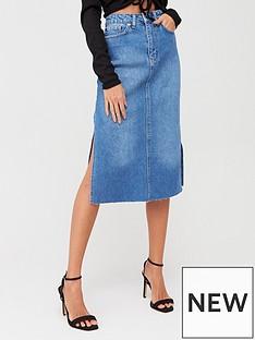 boohoo-boohoo-split-hem-denim-midi-skirt-mid-blue