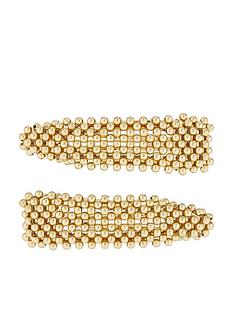 accessorize-2x-all-over-bead-snap-clips-gold