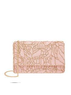 accessorize-sequin-floral-clutch-pink
