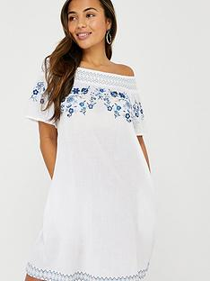accessorize-kaylee-off-shoulder-embroidered-dress-white