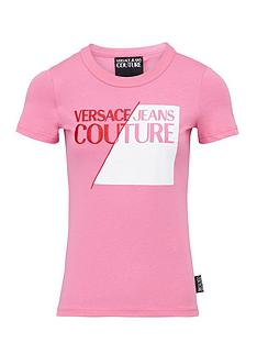 versace-jeans-couture-womenrsquosnbspcolourblock-logo-t-shirt-pink