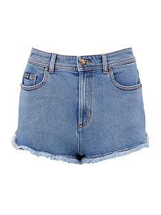 versace-jeans-couture-womenrsquosnbsplogo-pocket-denim-shorts-blue