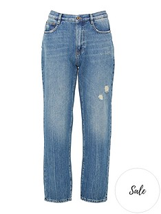 mcq-alexander-mcqueen-ren-straight-leg-jeans-blue