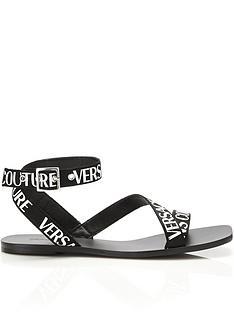 versace-jeans-couture-logo-flat-sandals-black