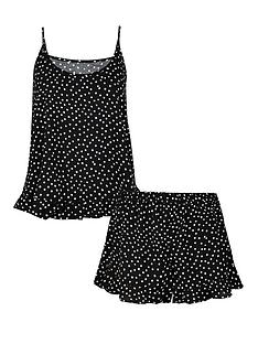 accessorize-spot-print-vest-and-shortsnbspset-black