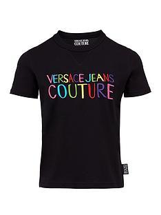 versace-jeans-couture-womenrsquosnbsprainbow-logo-t-shirt-black