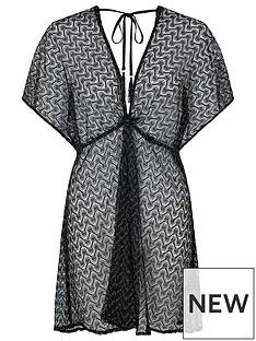accessorize-shimmer-lace-twist-kaftan-black