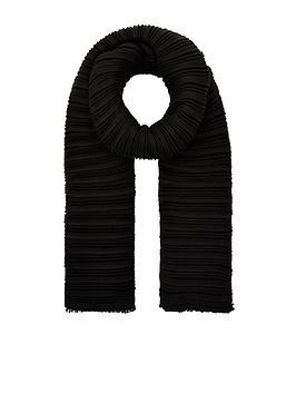 accessorize-origami-pleated-scarf-black