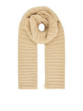 accessorize-origami-pleated-scarf-camel