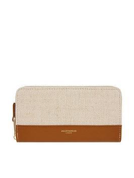 accessorize-linen-andnbsppu-large-zip-around-purse-tan