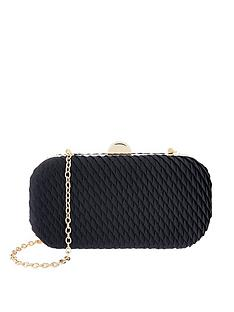 accessorize-bella-pleated-hard-case-clutch-navy