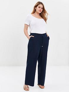 evans-linen-blend-trouser-navy