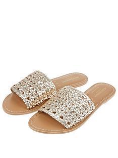 accessorize-woven-slider-gold