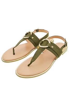 accessorize-ring-detail-sandals-khaki