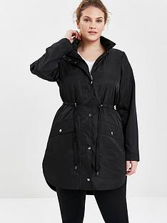 evans-black-longline-curved-hem-jacket