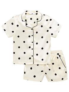 v-by-very-girls-polka-dot-short-satin-pyjamas-white