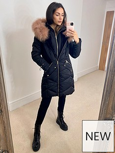 michelle-keegan-contrast-fur-longline-padded-coat-black