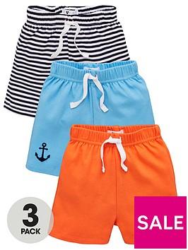 v-by-very-baby-boys-3-pack-nautical-shorts-multi