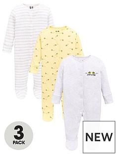 v-by-very-baby-girls-3-pack-honey-bee-sleepsuits-multi