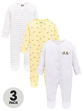 v-by-very-baby-girls-3-pack-honey-bee-sleepsuits-multi