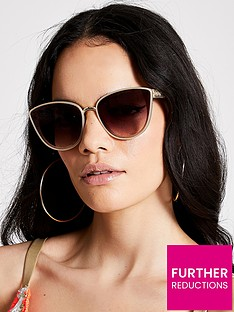 river-island-river-island-lattice-arm-cat-eye-sunglasses-beige