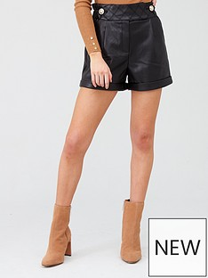 river-island-pu-short