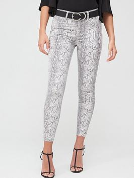 river-island-river-island-snake-print-mid-rise-molly-jegging-beige