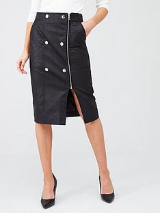 river-island-river-island-quilted-popper-pu-pencil-skirt