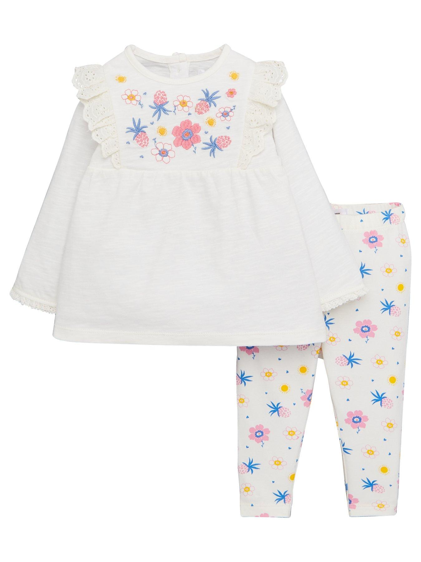 Wiwiane Toddler Kids Baby Girl Long Sleeve Butterfly Print Floral Dress Casual Clothes