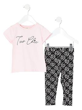 river-island-mini-girls-tres-chic-t-shirt-and-legging-set--nbsppink