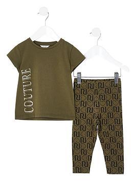 river-island-mini-girls-couture-t-shirt-and-legging-set--nbspkhaki