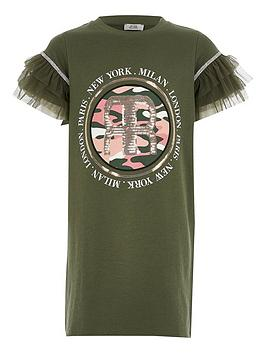 river-island-girls-printed-mesh-sleeve-tshirt-dress-khaki