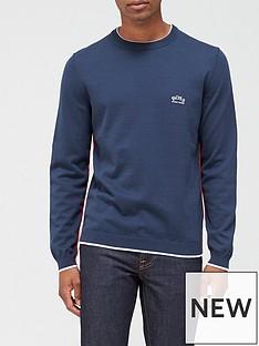 boss-riston-knitted-jumper-navy